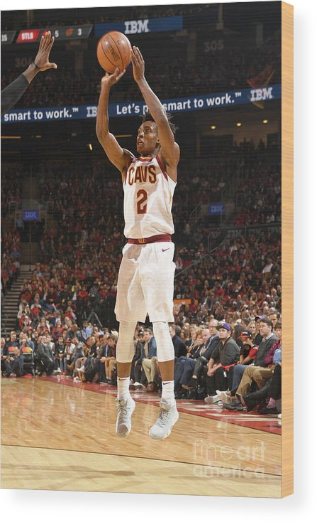 Nba Pro Basketball Wood Print featuring the photograph Cleveland Cavaliers V Toronto Raptors by Ron Turenne