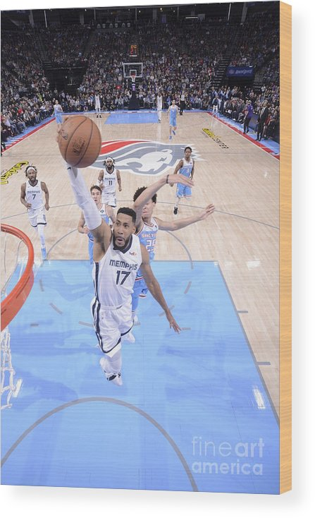 Nba Pro Basketball Wood Print featuring the photograph Memphis Grizzlies V Sacramento Kings by Rocky Widner