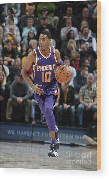 Nba Pro Basketball Wood Print featuring the photograph Phoenix Suns V Utah Jazz by Melissa Majchrzak