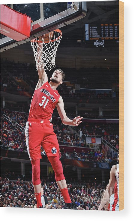 Nba Pro Basketball Wood Print featuring the photograph Washington Wizards V Cleveland Cavaliers by David Liam Kyle