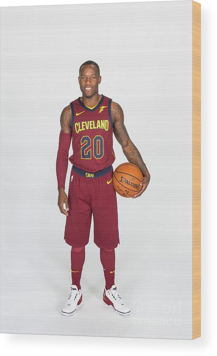 Media Day Wood Print featuring the photograph 2017-18 Cleveland Cavaliers Media Day by Michael J. Lebrecht Ii