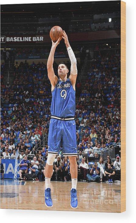 Nba Pro Basketball Wood Print featuring the photograph Miami Heat V Orlando Magic by Fernando Medina