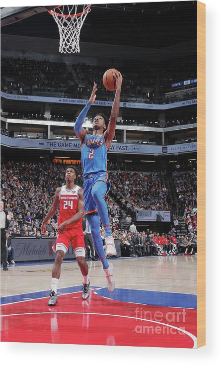 Nba Pro Basketball Wood Print featuring the photograph Oklahoma City Thunder V Sacramento Kings by Rocky Widner