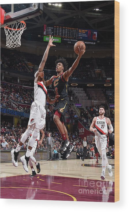 Nba Pro Basketball Wood Print featuring the photograph Portland Trail Blazers V Cleveland by David Liam Kyle