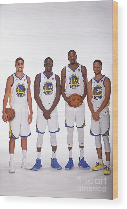 Media Day Wood Print featuring the photograph 2017-18 Golden State Warriors Media Day by Noah Graham