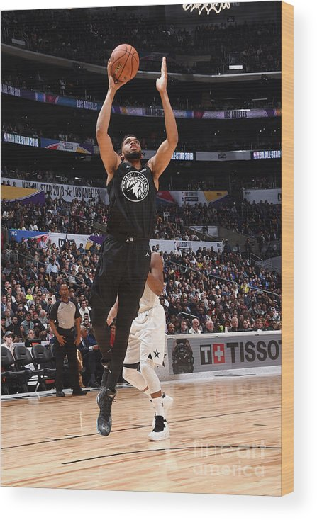 Nba Pro Basketball Wood Print featuring the photograph 2018 Nba All-star Game by Andrew D. Bernstein