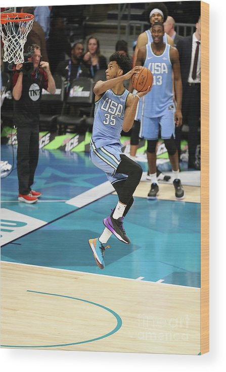 Nba Pro Basketball Wood Print featuring the photograph 2019 Mtn Dew Ice Rising Stars by Kent Smith