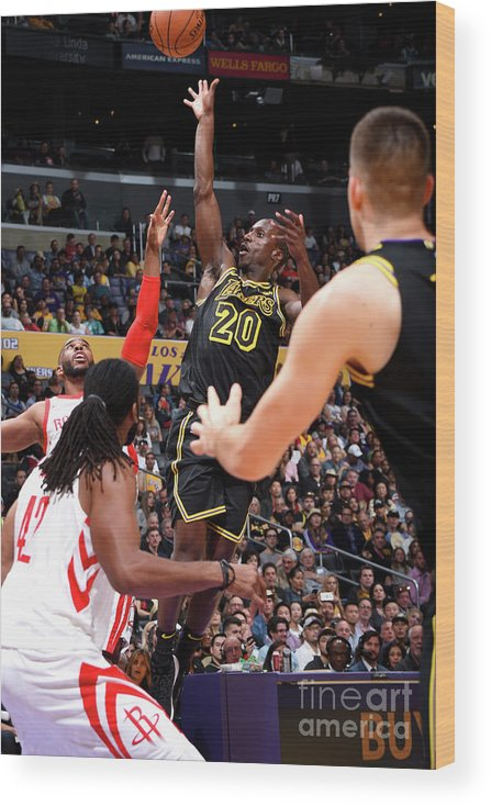 Andre Ingram Wood Print featuring the photograph Houston Rockets V Los Angeles Lakers by Andrew D. Bernstein
