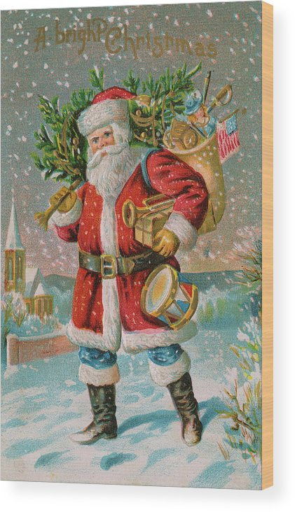 People Wood Print featuring the photograph A Bright Christmas Illustration by Graphicaartis