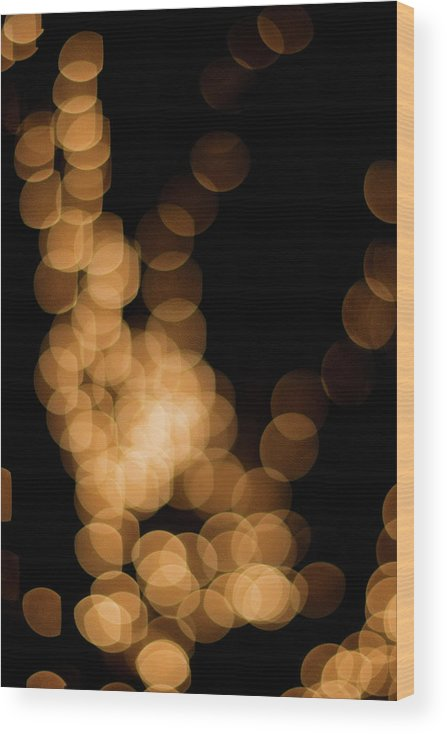 Funky Wood Print featuring the photograph Abstract Lights by Miss pj