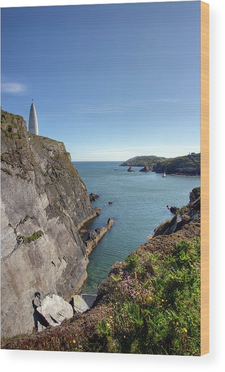 Tranquility Wood Print featuring the photograph Baltimore Beacon by Keith Marshall