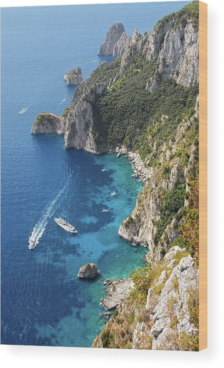 Scenics Wood Print featuring the photograph Beautiful Capris Sea by Pierpaolo Paldino