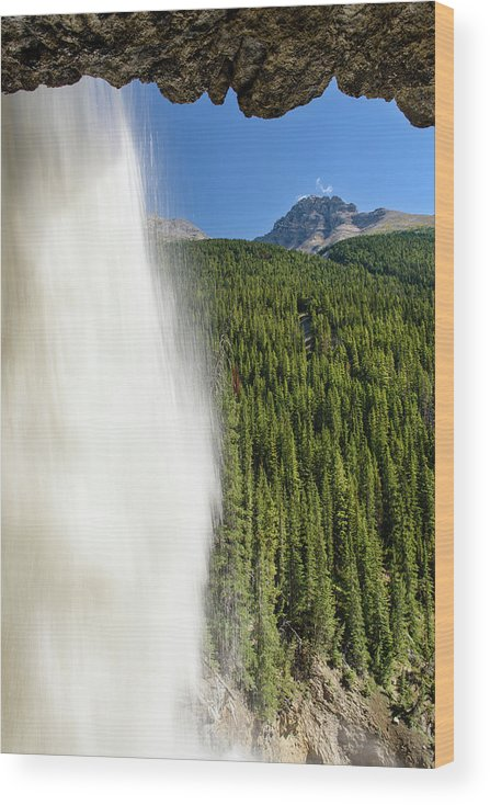 Behind Panther Falls - Vertical Wood Print featuring the photograph Behind Panther Falls - Vertical by Michael Blanchette Photography