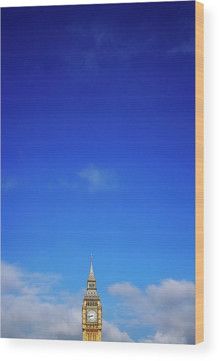 Clock Tower Wood Print featuring the photograph Big Ben, Or Palace Of Westminster Clock by Dan Hallman