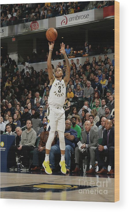 Nba Pro Basketball Wood Print featuring the photograph Boston Celtics V Indiana Pacers by Nba Photos