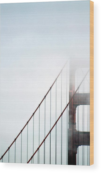 Scenics Wood Print featuring the photograph Bridge In Fog by By Ken Ilio