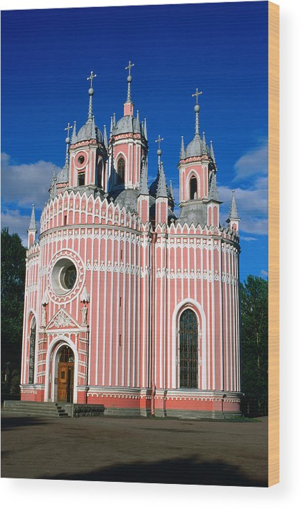 Gothic Style Wood Print featuring the photograph Candy Stripes Of Chesma Church, St by Lonely Planet