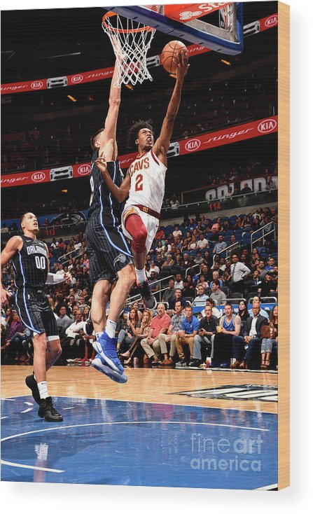 Nba Pro Basketball Wood Print featuring the photograph Cleveland Cavaliers V Orlando Magic by Gary Bassing