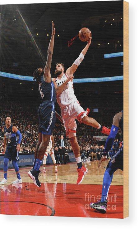 Nba Pro Basketball Wood Print featuring the photograph Dallas Mavericks V Toronto Raptors by Ron Turenne