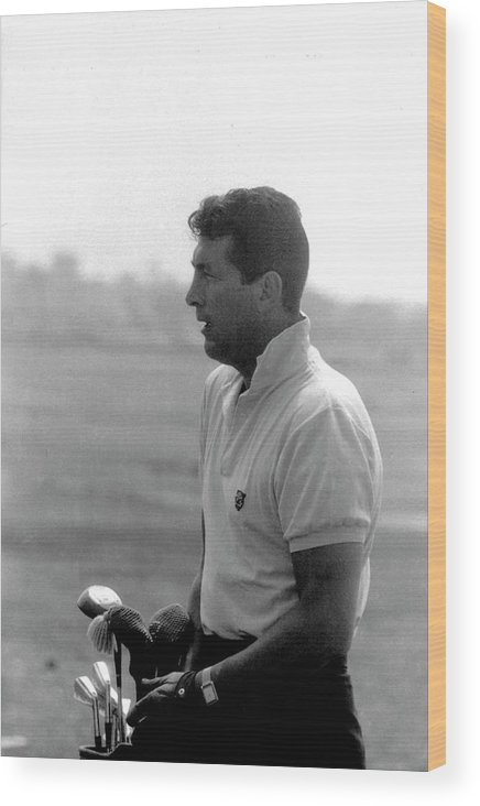 Timeincown Wood Print featuring the photograph Entertainer Dean Martin Playing Golf by Allan Grant