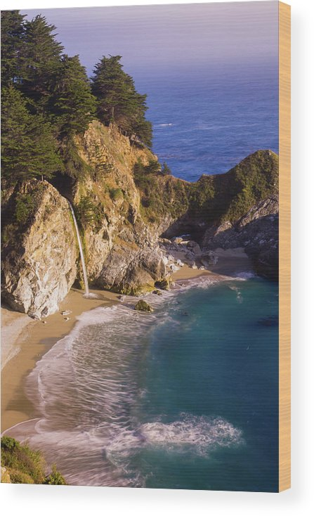 Tranquility Wood Print featuring the photograph Evening At Mcway Falls by By Sathish Jothikumar