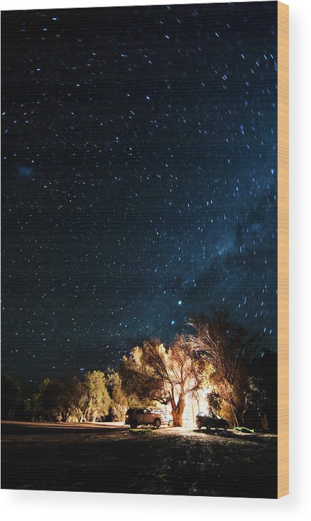 Northern Cape Province Wood Print featuring the photograph Farm House And Milky Way by Subman