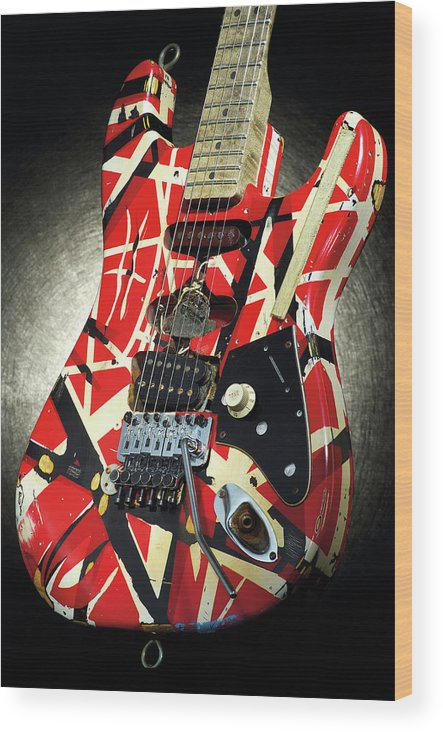 Music Wood Print featuring the photograph Frankenstrat Studio Shoot by Guitarist Magazine