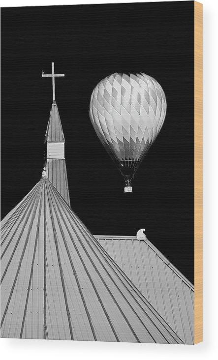 Geometric Wood Print featuring the photograph Geometric Patterns at Balloon Fest by Zayne Diamond Photographic