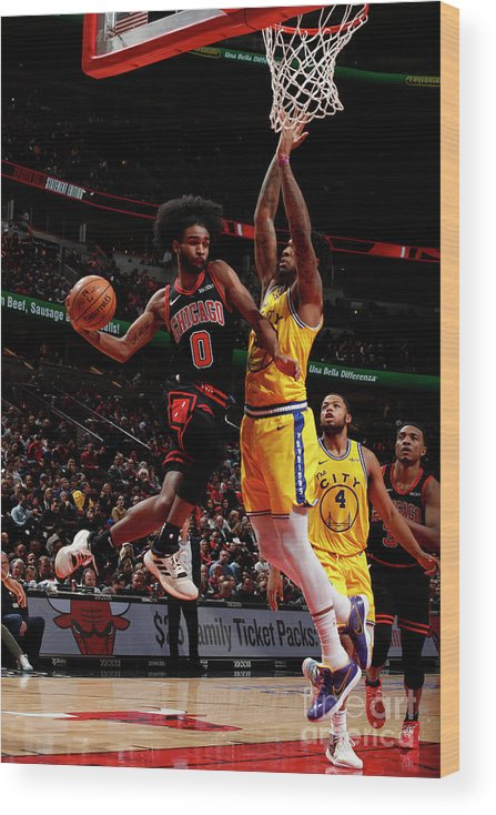 Chicago Bulls Wood Print featuring the photograph Golden State Warriors V Chicago Bulls by Jeff Haynes