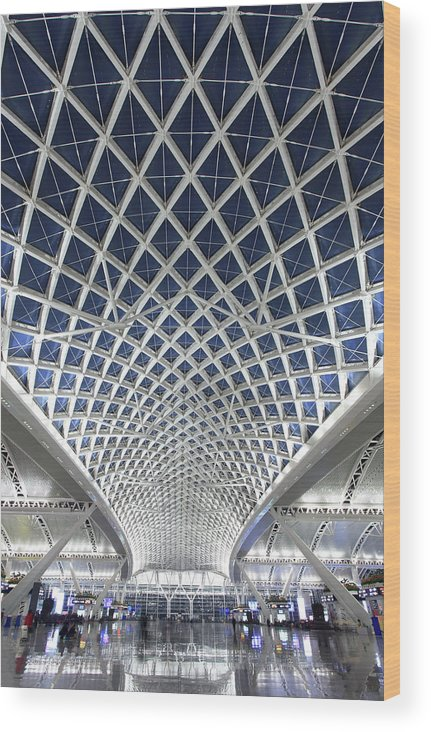 Chinese Culture Wood Print featuring the photograph Guangzhou Railway Station by Real444