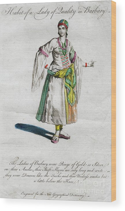 Engraving Wood Print featuring the drawing Habit Of A Lady Of Quality In Barbary by Print Collector