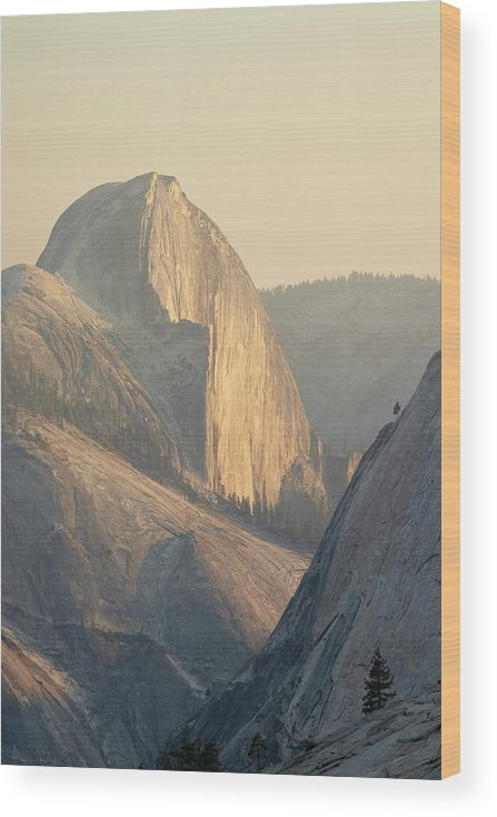 Scenics Wood Print featuring the photograph Half Dome At Sunset, Olmsted Point by James Hager / Robertharding