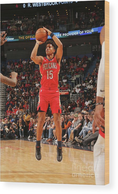 Smoothie King Center Wood Print featuring the photograph Houston Rockets V New Orleans Pelicans by Layne Murdoch Jr.