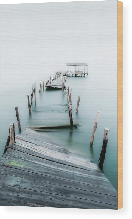 The End Wood Print featuring the photograph Jetty by Lt Photo
