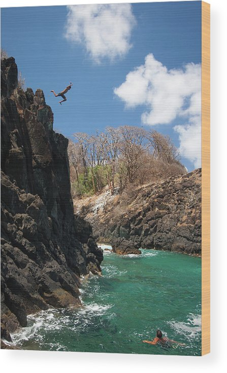 Tranquility Wood Print featuring the photograph Jumping by Mauricio M Favero