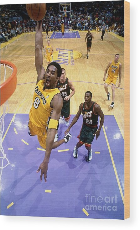 Nba Pro Basketball Wood Print featuring the photograph Kobe Bryant Classics by Andrew D. Bernstein