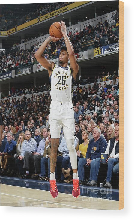 Nba Pro Basketball Wood Print featuring the photograph La Clippers V Indiana Pacers by Ron Hoskins