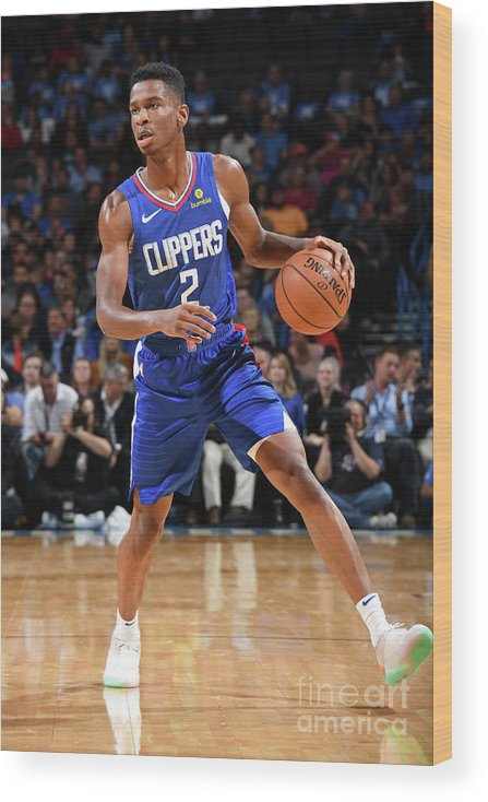 Nba Pro Basketball Wood Print featuring the photograph La Clippers V Oklahoma City Thunder by Andrew D. Bernstein