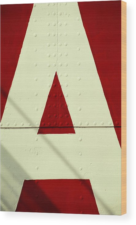 Baltimore Wood Print featuring the photograph Letters On Lightship, Detail by Harvey Lloyd