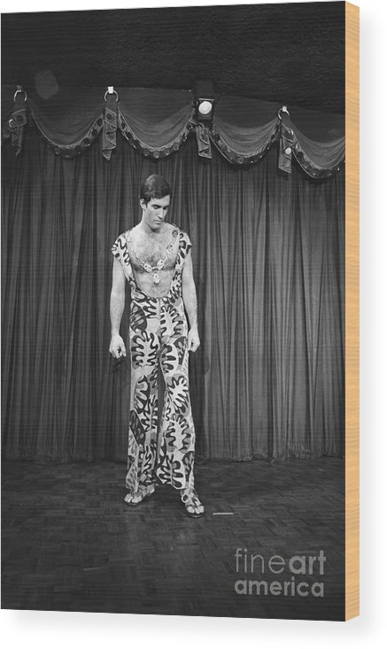 People Wood Print featuring the photograph Man Modeling New Fashion by Bettmann