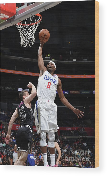 Moe Harkless Wood Print featuring the photograph Melbourne United V Los Angeles Clippers by Adam Pantozzi
