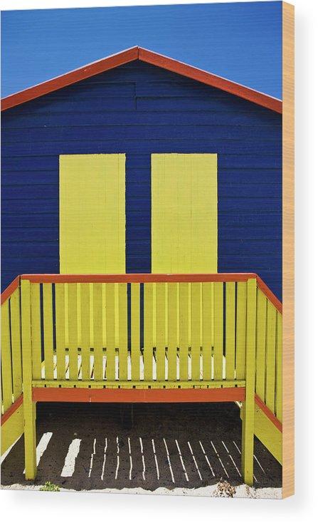 Steps Wood Print featuring the photograph Muizenberg Beach by Paul Piebinga