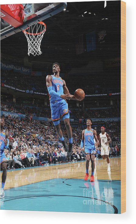 Nba Pro Basketball Wood Print featuring the photograph New Orleans Pelicans V Oklahoma City by Zach Beeker