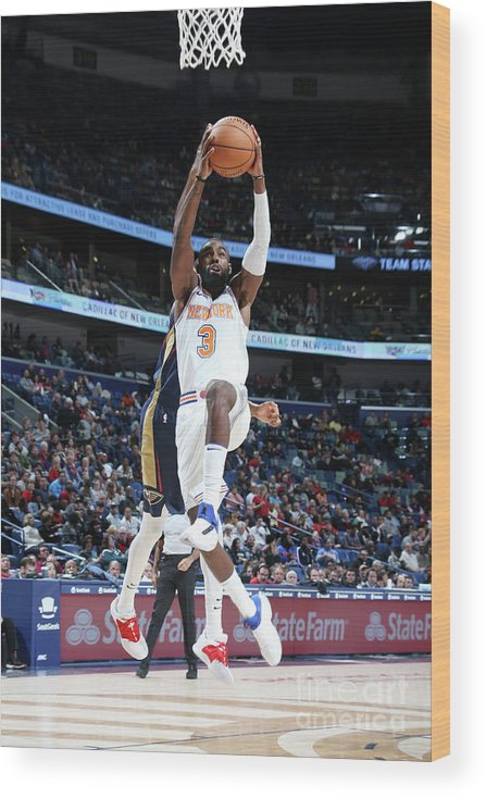 Tim Hardaway Jr. Wood Print featuring the photograph New York Knicks V New Orleans Pelicans by Layne Murdoch Jr.