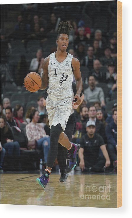 Nba Pro Basketball Wood Print featuring the photograph Oklahoma City Thunder V San Antonio by Darren Carroll