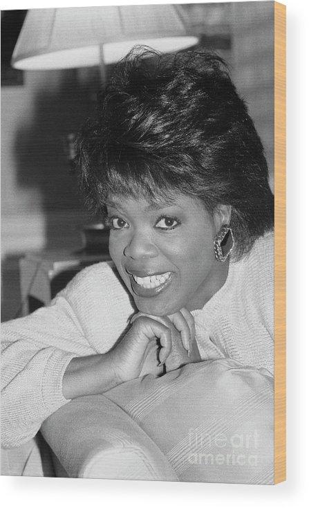 1980-1989 Wood Print featuring the photograph Oprah Winfrey, 1986 by Bettmann