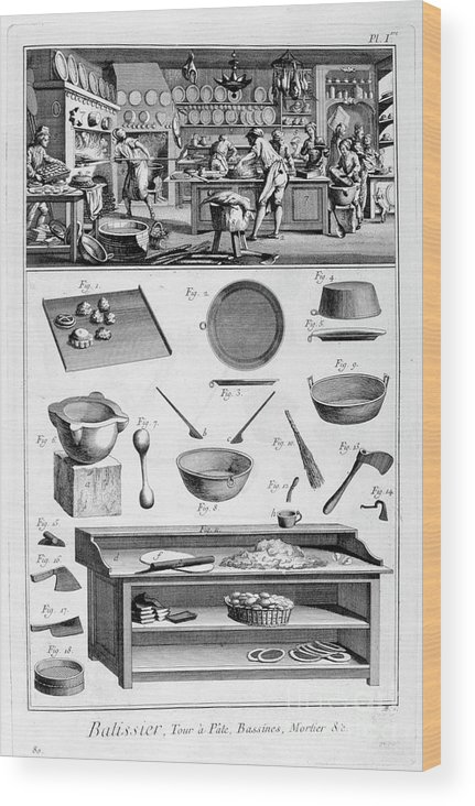 Working Wood Print featuring the drawing Patisserie, 1751-1777 by Print Collector