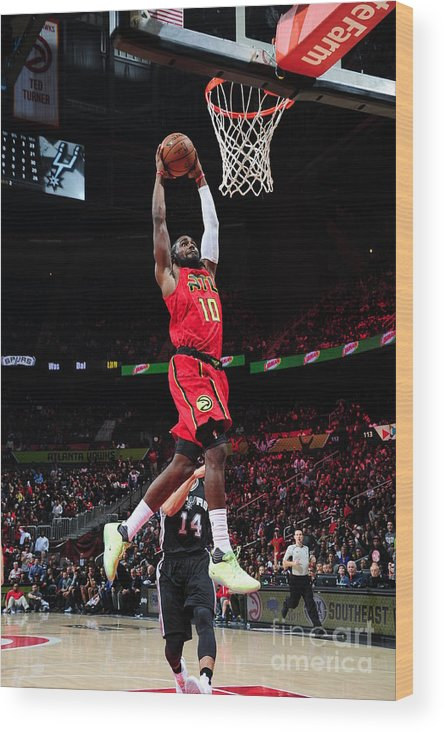 Atlanta Wood Print featuring the photograph Phoenix Suns V Atlanta Hawks by Scott Cunningham