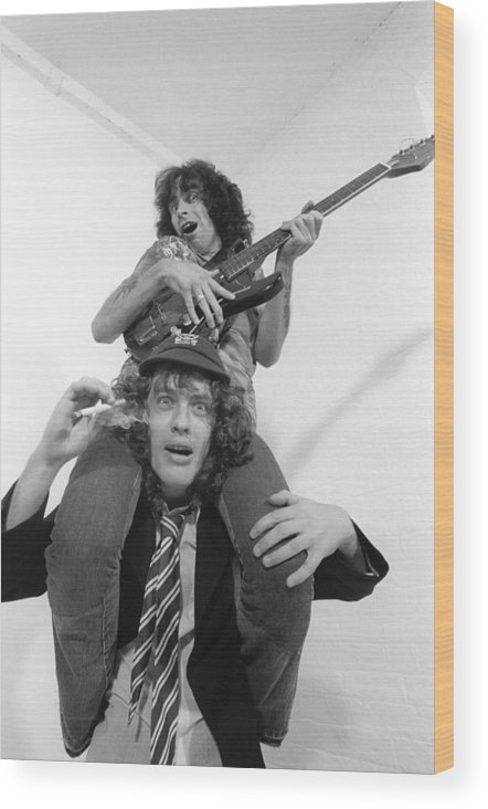 Heavy Metal Wood Print featuring the photograph Photo Of Ac Dc And Bon Scott And Acdc by Fin Costello