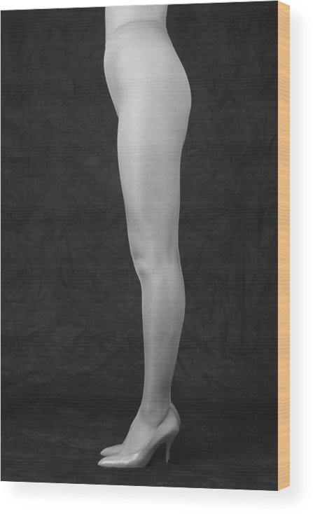 Cool Attitude Wood Print featuring the photograph Photography Of Standing Womans Legs by Daj